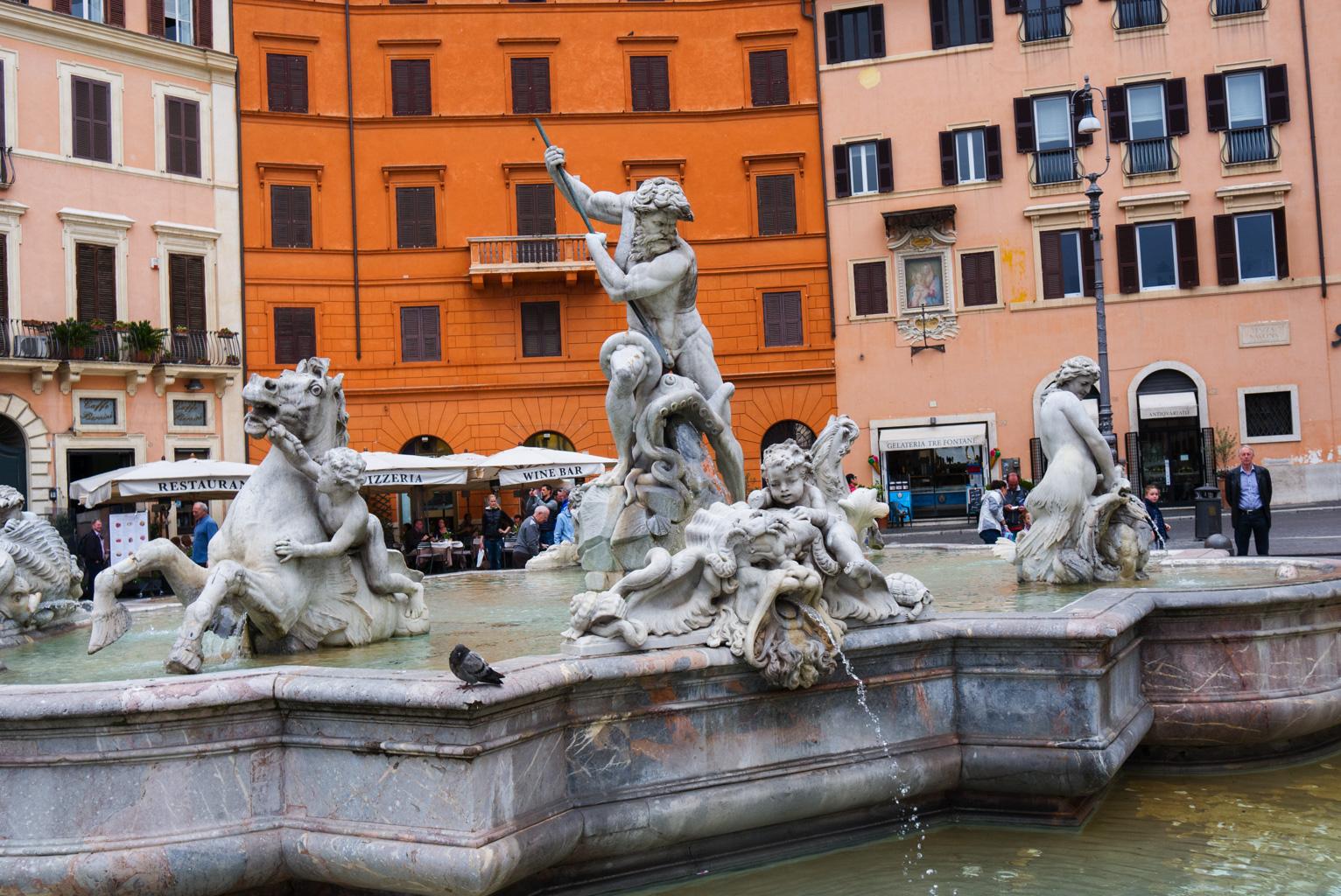 Bellini Fontän Piazza Navona Rom